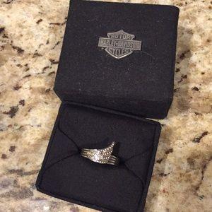 Harley Davidson sz 7 sterling silver women's ring